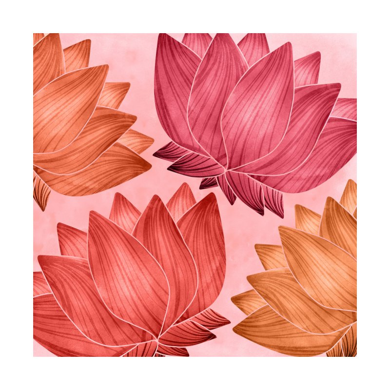 Lotus Love Pattern by Modern Tropical's Shop