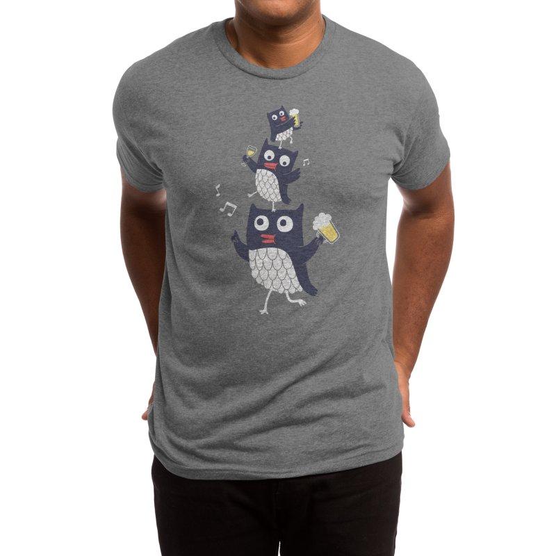 Happy Owls Men's T-Shirt by Mogu Mogu