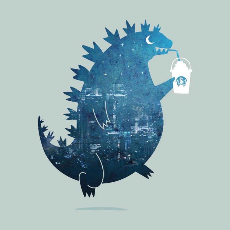 Godzillatte Men's T-Shirt by Mogu Mogu