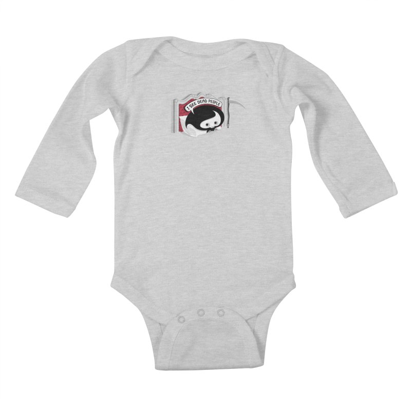 occupational hazard Kids Baby Longsleeve Bodysuit by mohacsy's shop of witchcraft, wizardry and art:)