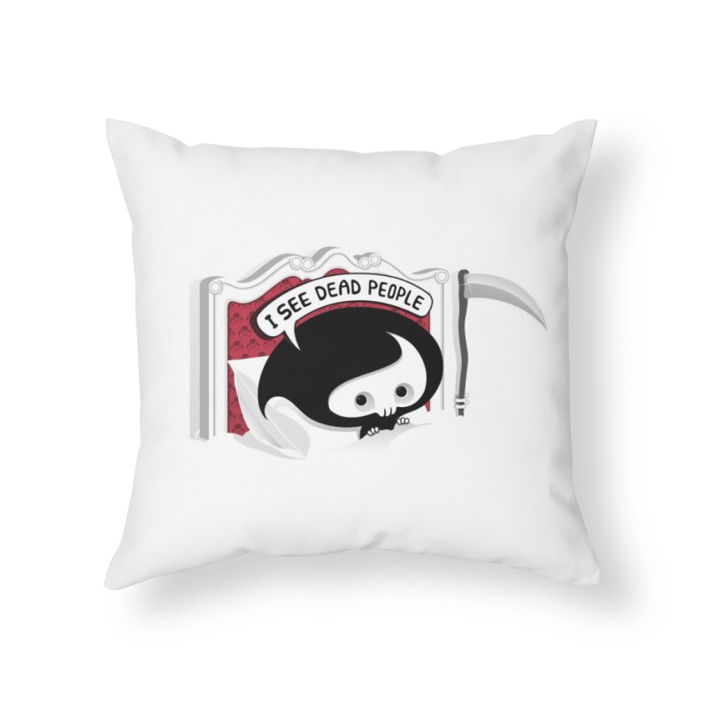 occupational hazard Home Throw Pillow by mohacsy's shop of witchcraft, wizardry and art:)