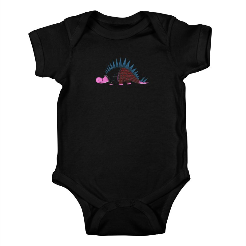 Punkosaurus Kids Baby Bodysuit by mohacsy's shop of witchcraft, wizardry and art:)