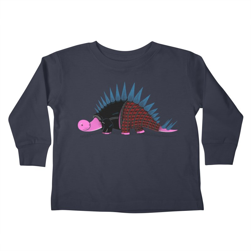 Punkosaurus Kids Toddler Longsleeve T-Shirt by mohacsy's shop of witchcraft, wizardry and art:)
