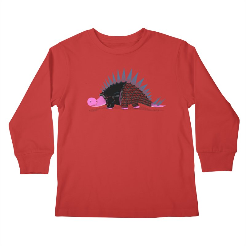 Punkosaurus Kids Longsleeve T-Shirt by mohacsy's shop of witchcraft, wizardry and art:)