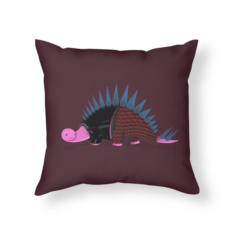 Punkosaurus Home Throw Pillow by mohacsy's shop of witchcraft, wizardry and art:)