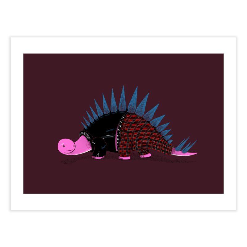 Punkosaurus Home Fine Art Print by mohacsy's shop of witchcraft, wizardry and art:)