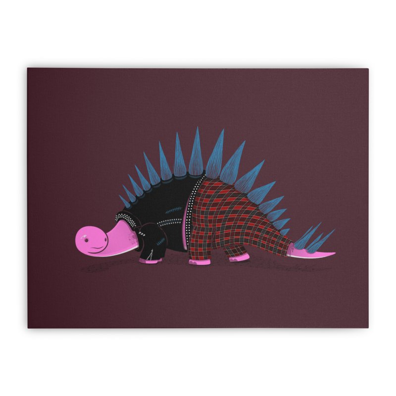 Punkosaurus Home Stretched Canvas by mohacsy's shop of witchcraft, wizardry and art:)