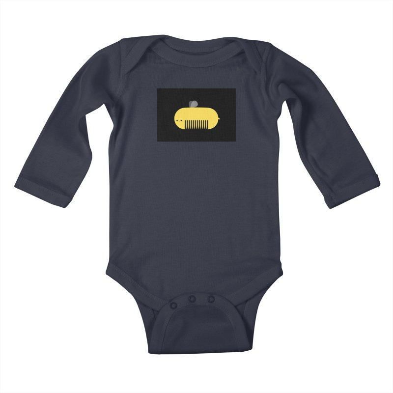 honeycomb Kids Baby Longsleeve Bodysuit by mohacsy's shop of witchcraft, wizardry and art:)