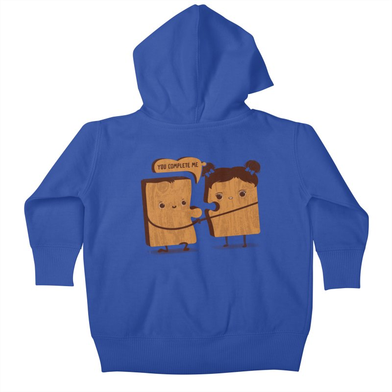 made for each other  Kids Baby Zip-Up Hoody by mohacsy's shop of witchcraft, wizardry and art:)