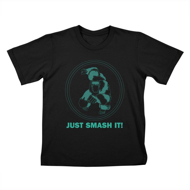 #JustSmashIt Kids T-Shirt by mohamedhidhir's Artist Shop