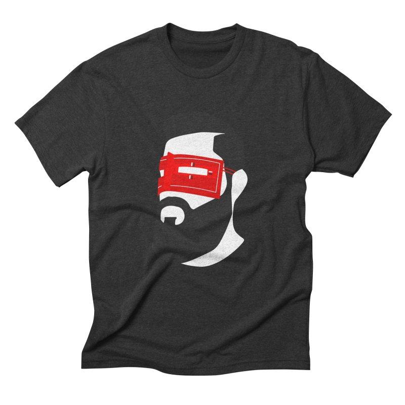 Man with Burqa Men's Triblend T-Shirt by Mohsen Moridi's Art Shop