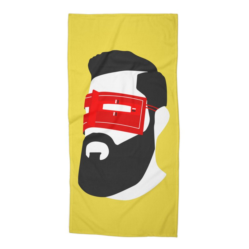 Man with Burqa Accessories Beach Towel by Mohsen Moridi's Art Shop