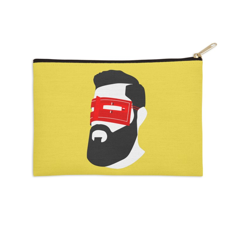 Man with Burqa Accessories Zip Pouch by Mohsen Moridi's Art Shop