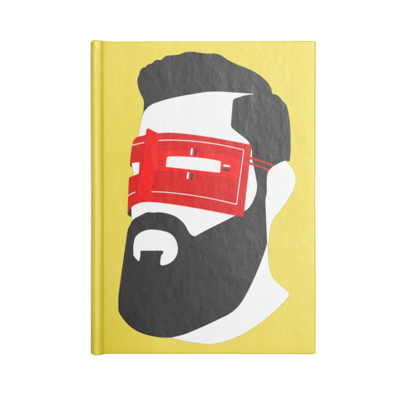 Man with Burqa Accessories Lined Journal Notebook by Mohsen Moridi's Art Shop