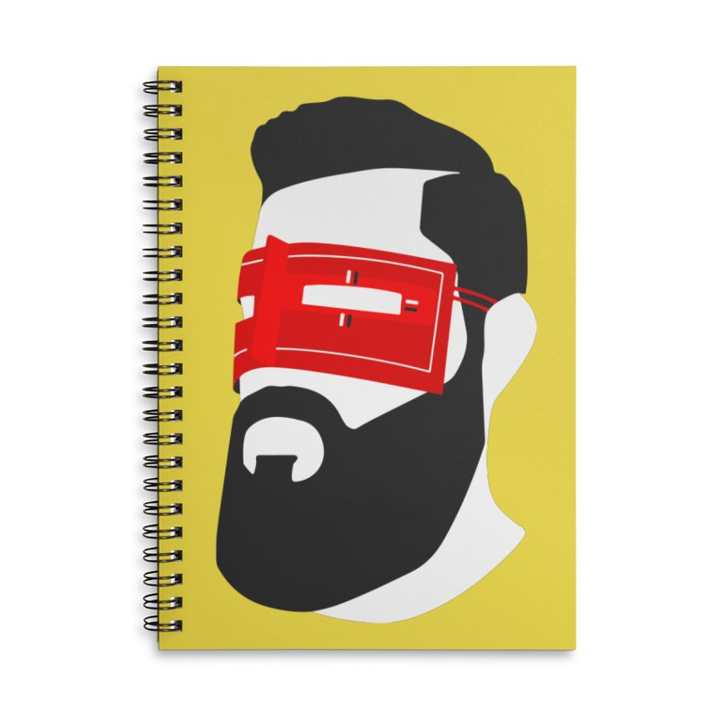 Man with Burqa Accessories Lined Spiral Notebook by Mohsen Moridi's Art Shop