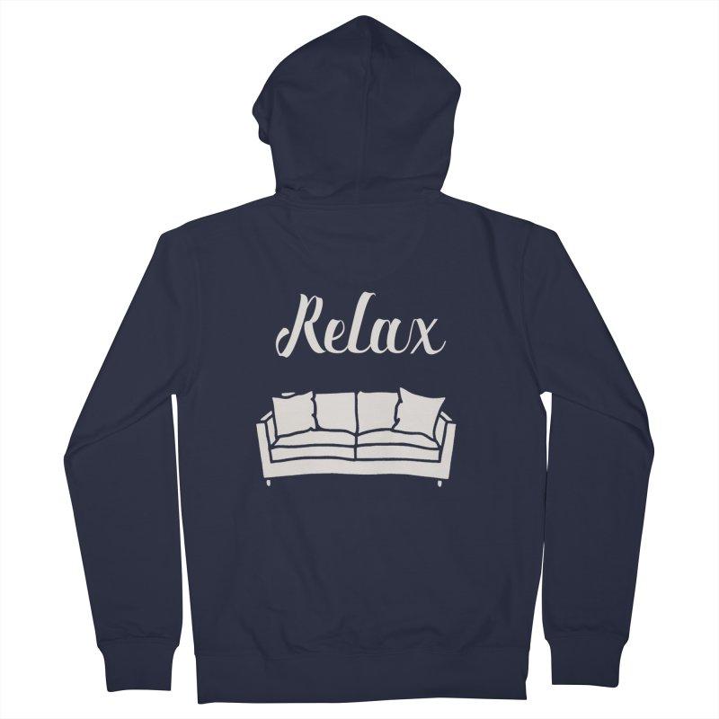 Relax Men's Zip-Up Hoody by mohsherif's Artist Shop