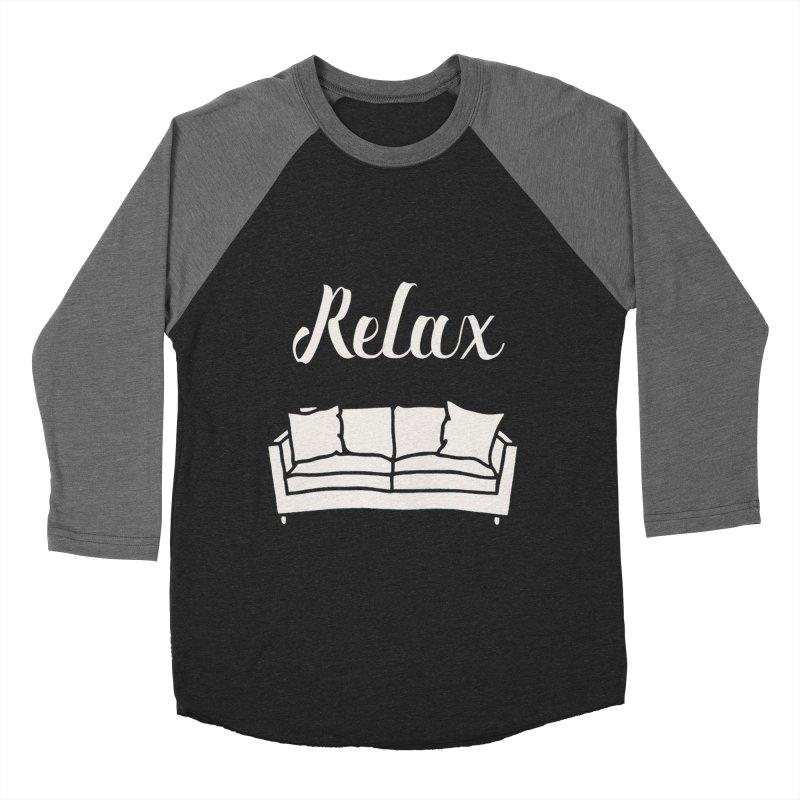 Relax Men's Baseball Triblend T-Shirt by mohsherif's Artist Shop