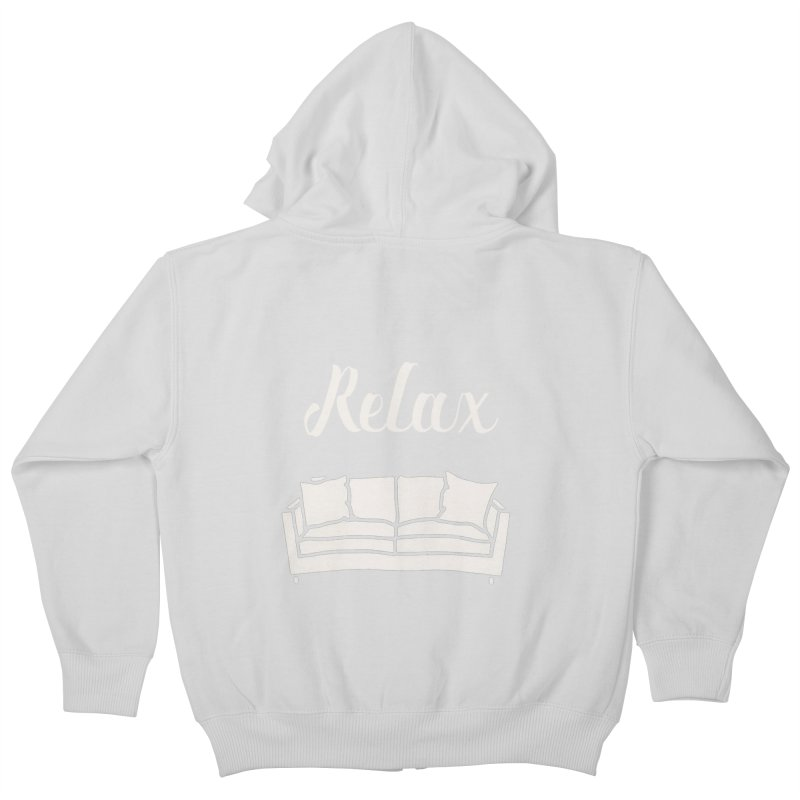 Relax Kids Zip-Up Hoody by mohsherif's Artist Shop