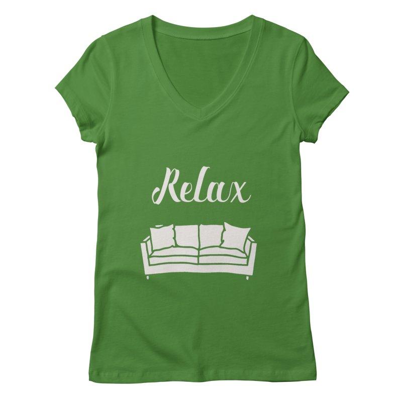 Relax Women's V-Neck by mohsherif's Artist Shop