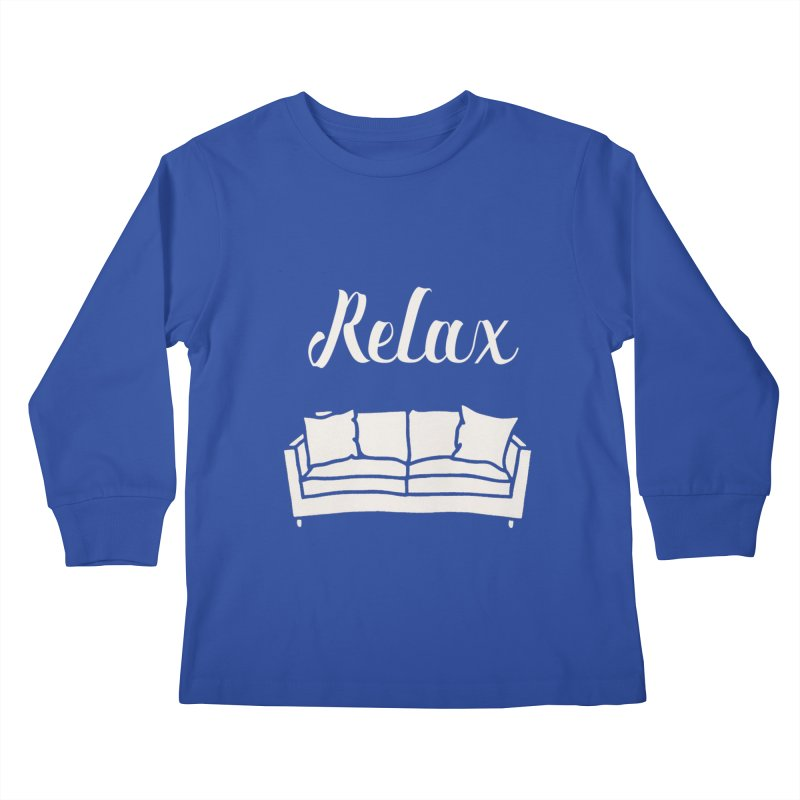 Relax Kids Longsleeve T-Shirt by mohsherif's Artist Shop