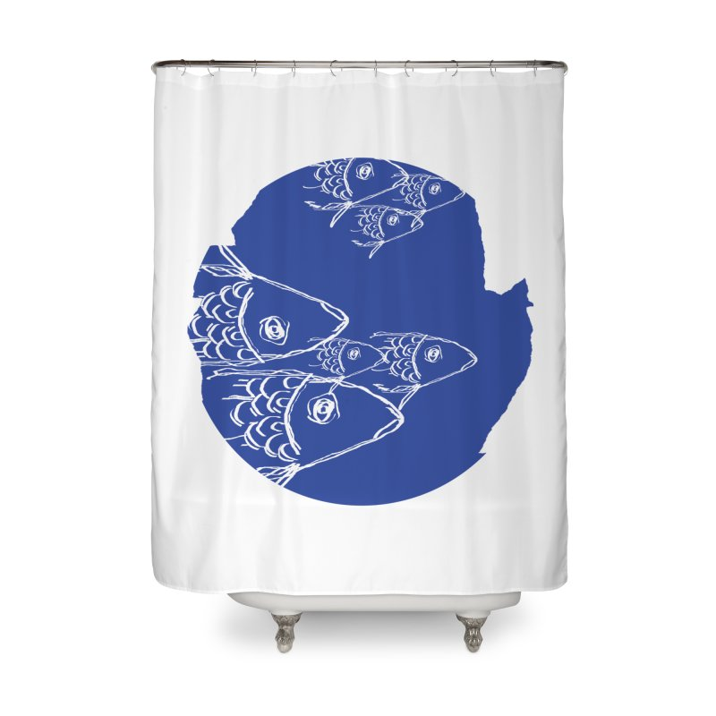 something fishy Home Shower Curtain by moibhusart's Artist Shop