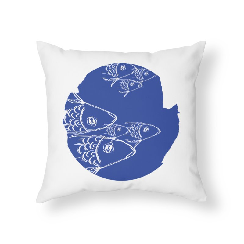 something fishy Home Throw Pillow by moibhusart's Artist Shop