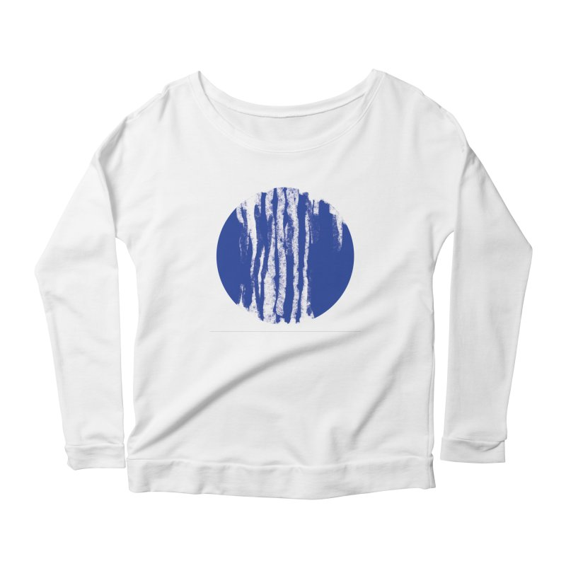 sketchy wave Women's Longsleeve Scoopneck  by moibhusart's Artist Shop