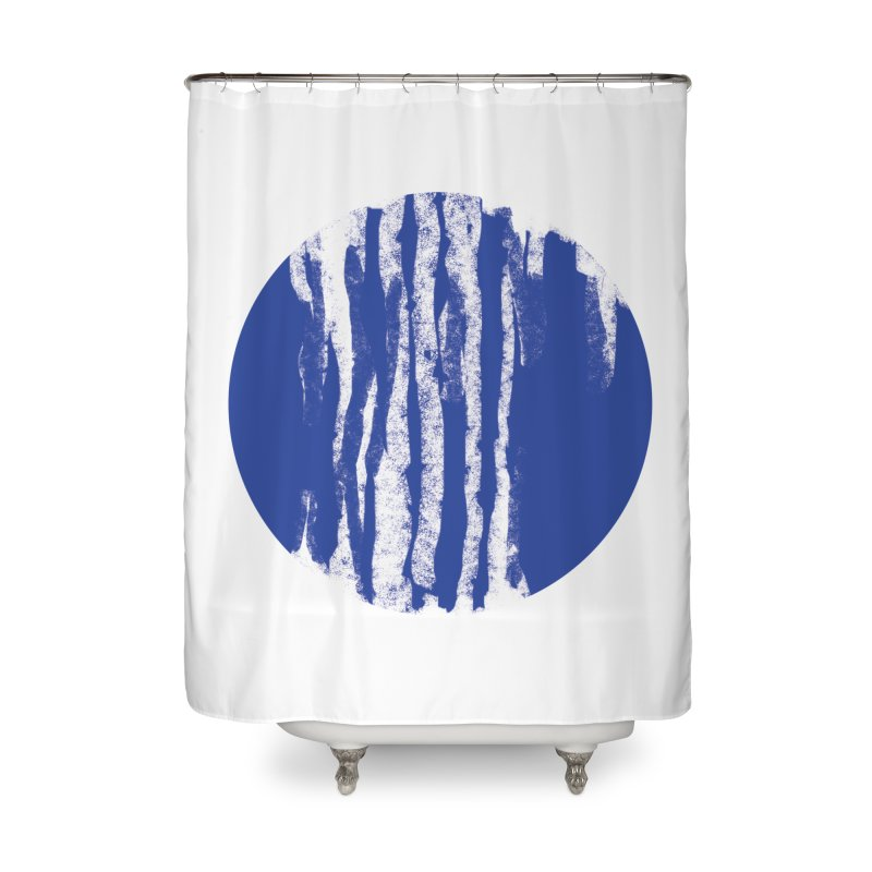 sketchy wave Home Shower Curtain by moibhusart's Artist Shop