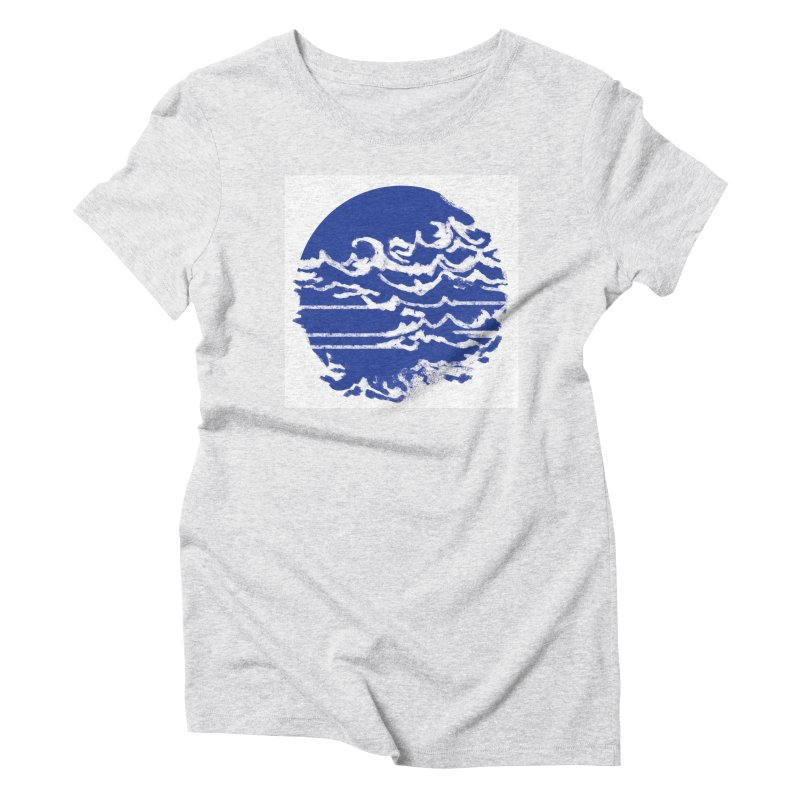 surf up! Women's Triblend T-Shirt by moibhusart's Artist Shop