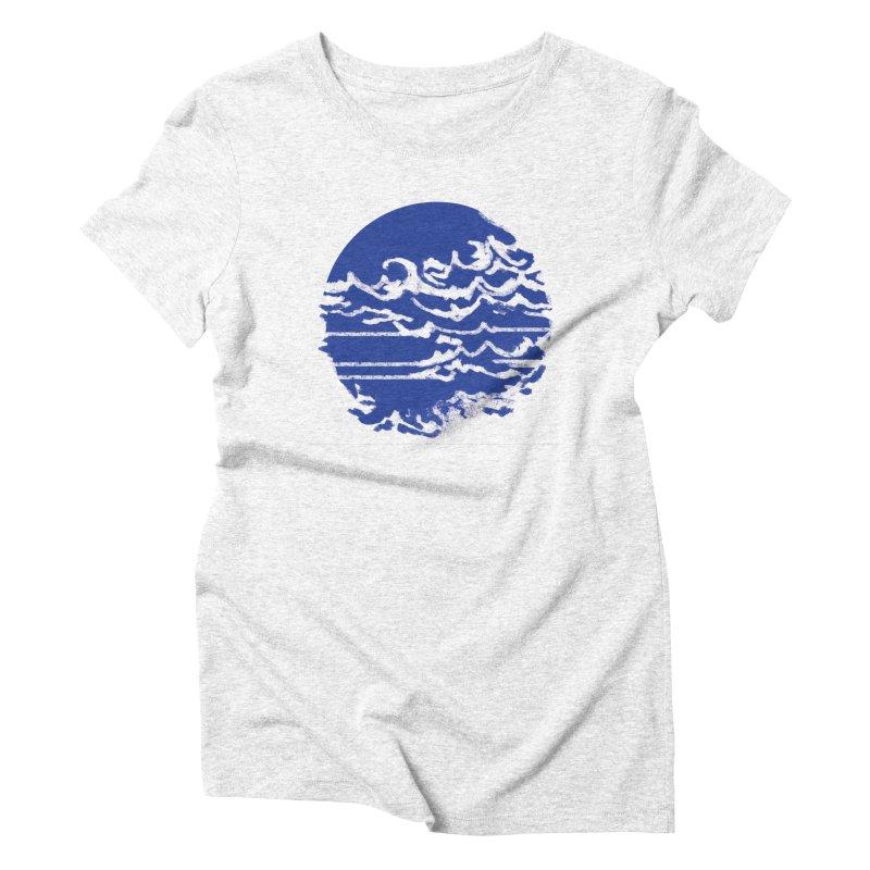 surf up! Women's Triblend T-shirt by moibhusart's Artist Shop