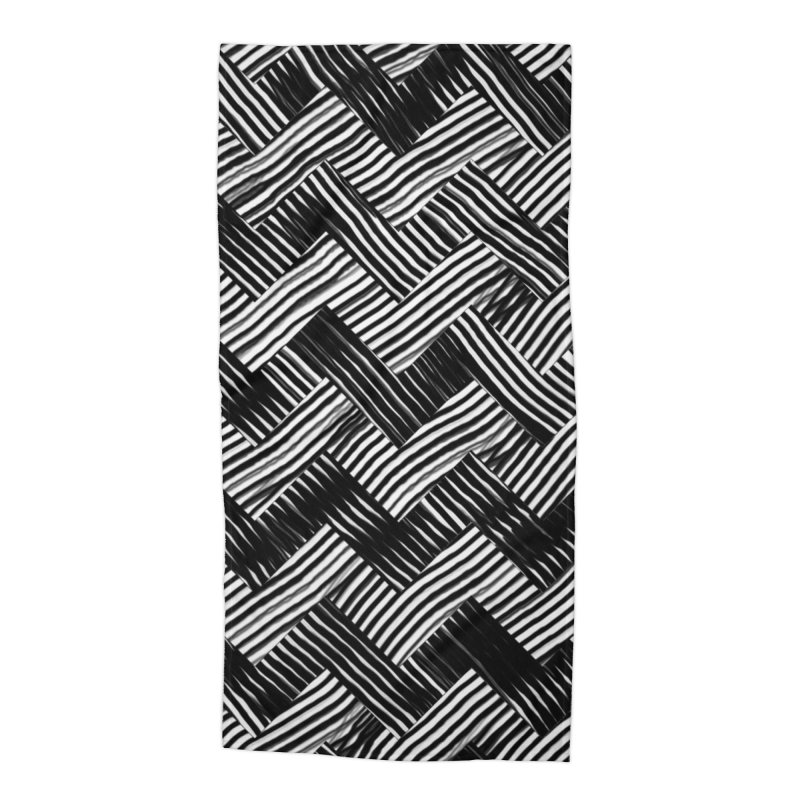 abstract chevron weave Accessories Beach Towel by moibhusart's Artist Shop