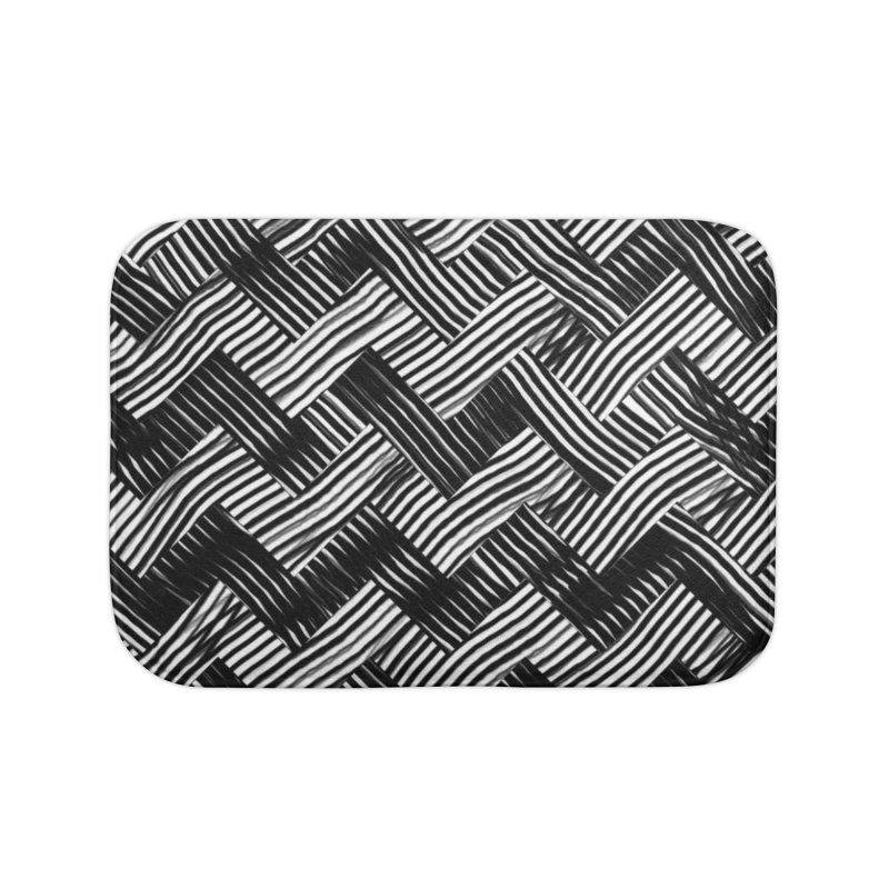 abstract chevron weave Home Bath Mat by moibhusart's Artist Shop