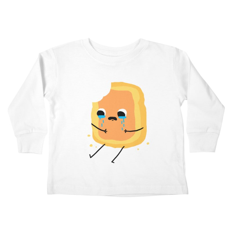 Sad Jam Toast Kids Toddler Longsleeve T-Shirt by moiseslozano's Artist Shop