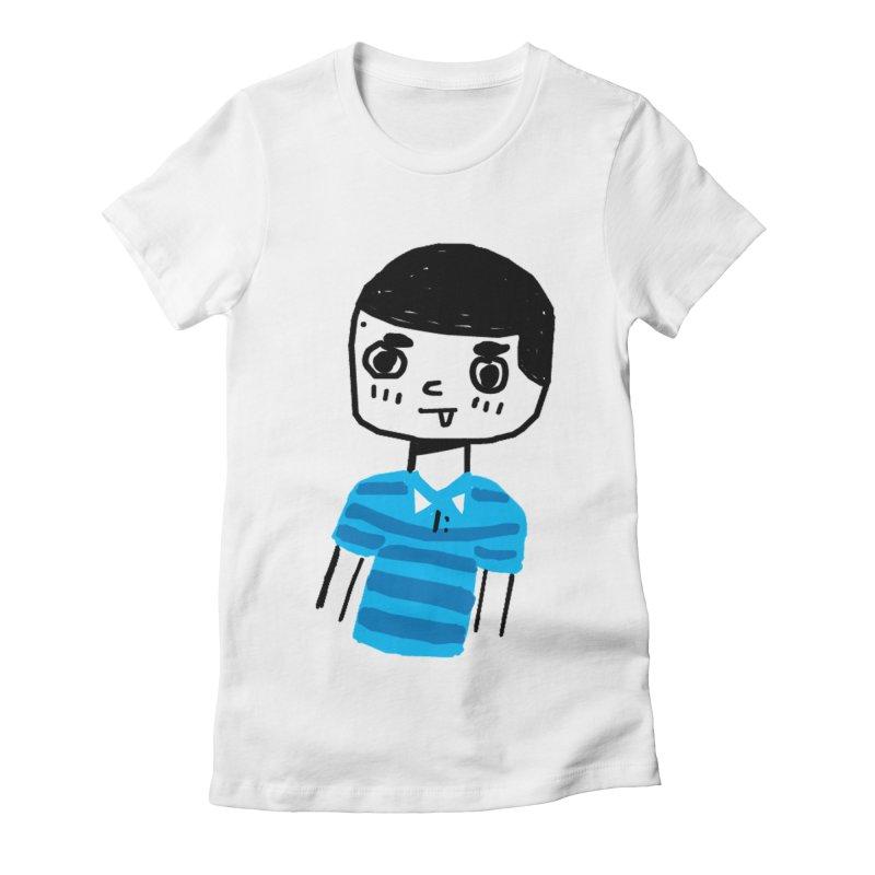 Hello Moisés! Women's Fitted T-Shirt by moiseslozano's Artist Shop