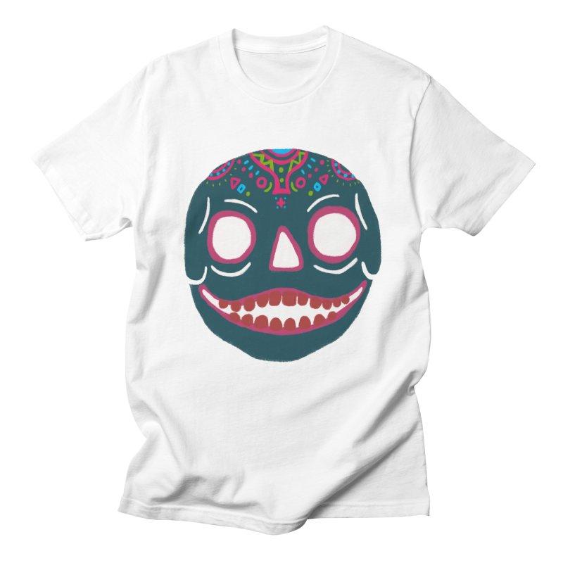 Crayon Skull Men's T-shirt by moiseslozano's Artist Shop