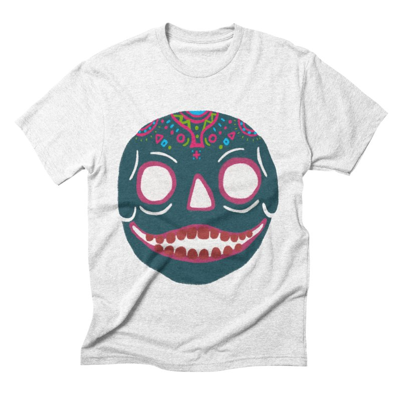 Crayon Skull Men's Triblend T-shirt by moiseslozano's Artist Shop