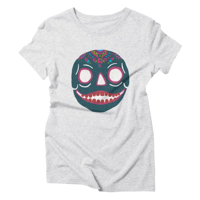 Crayon Skull Women's Triblend T-Shirt by moiseslozano's Artist Shop