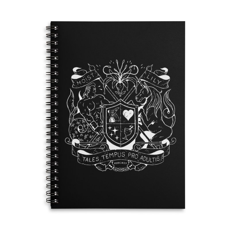 Coat of Charms - White Accessories Notebook by The Gentle Listener's Dashing Haberdashery