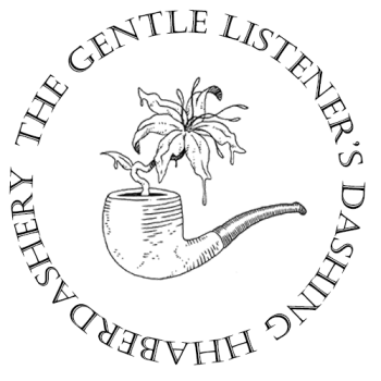 The Gentle Listener's Dashing Haberdashery Logo