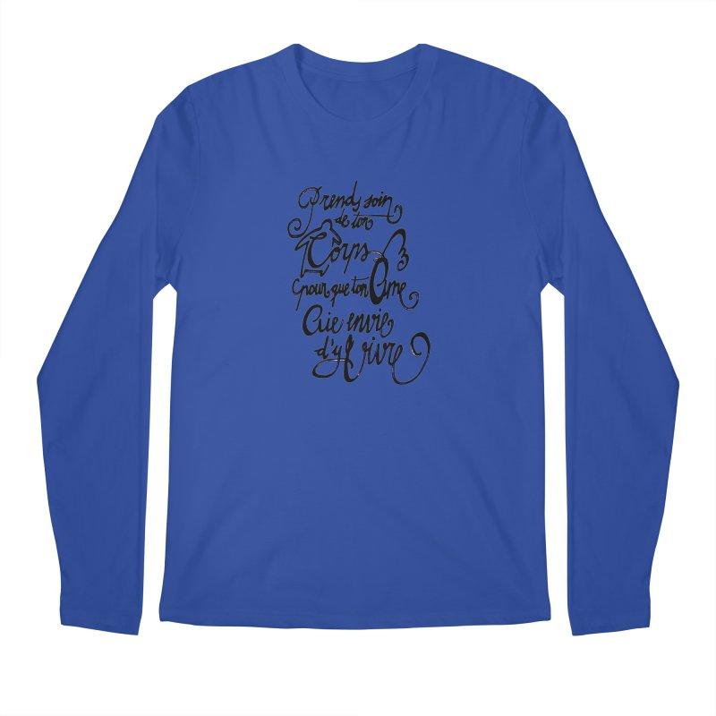 Prends soin de ton corps Men's Regular Longsleeve T-Shirt by mojambo's Artist Shop