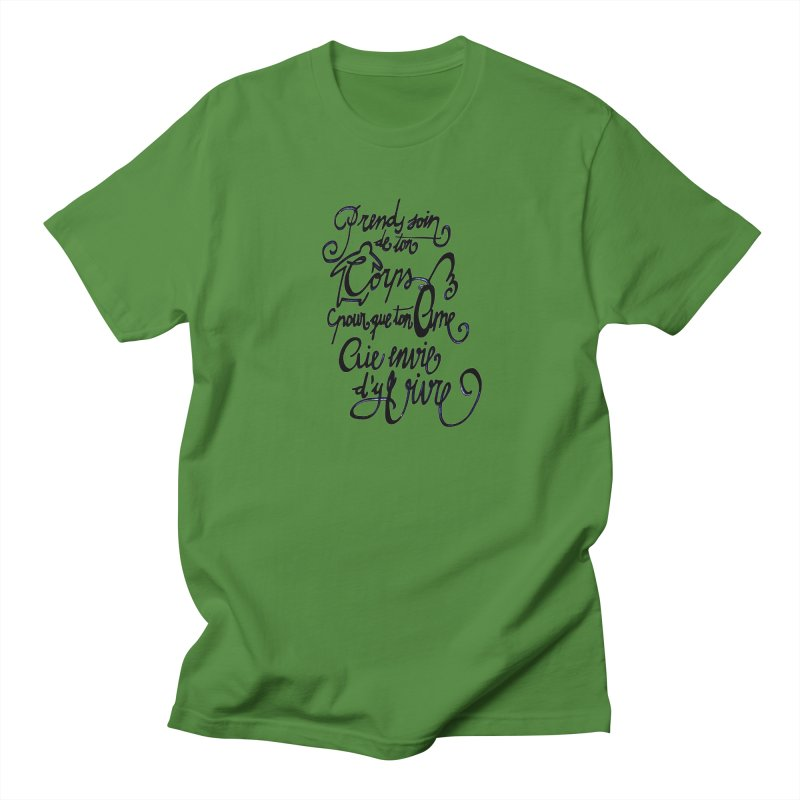 Prends soin de ton corps Men's T-Shirt by mojambo's Artist Shop