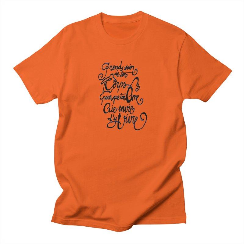 Prends soin de ton corps Men's Regular T-Shirt by mojambo's Artist Shop