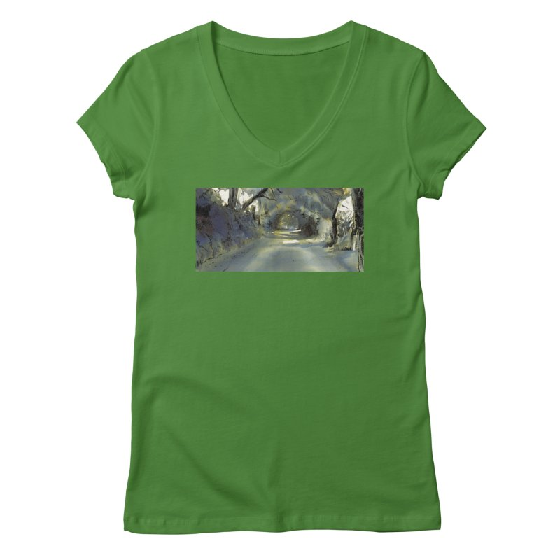 Floresta Women's V-Neck by mojambo's Artist Shop