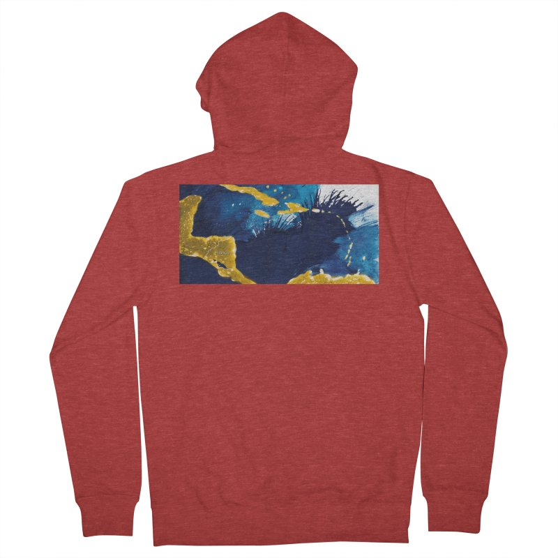 Caribe Men's French Terry Zip-Up Hoody by mojambo's Artist Shop