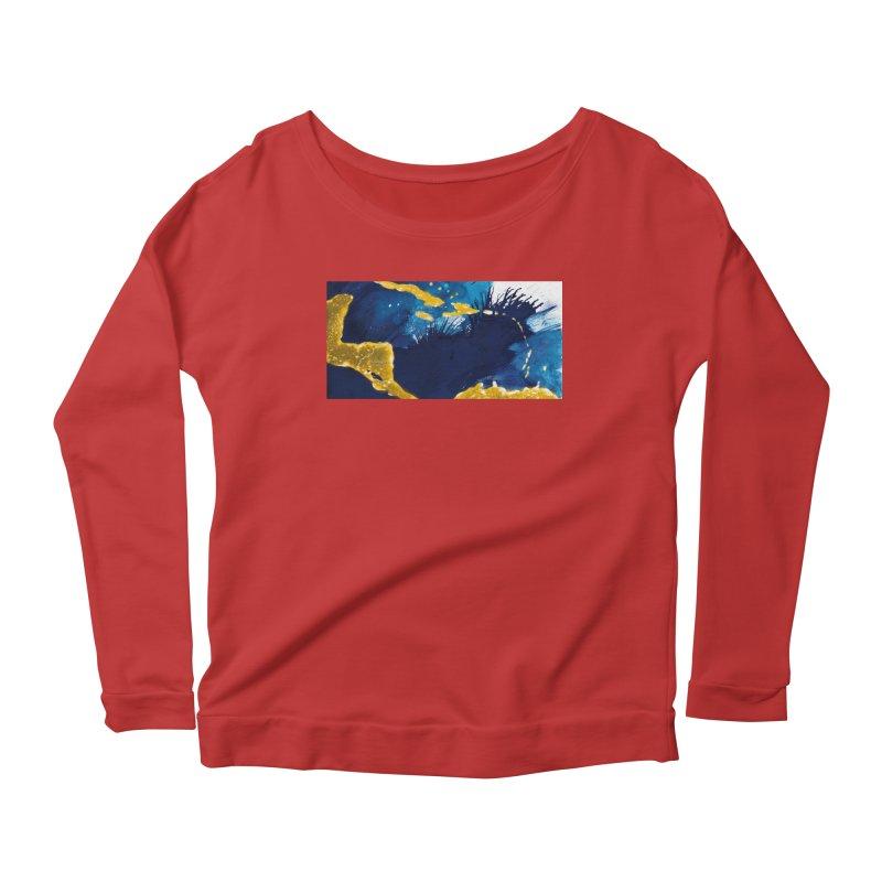 Caribe Women's Scoop Neck Longsleeve T-Shirt by mojambo's Artist Shop
