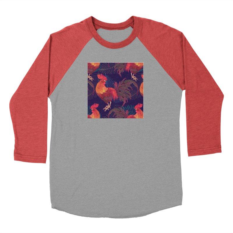 Rooster year Men's Baseball Triblend T-Shirt by mokalache's Artist Shop