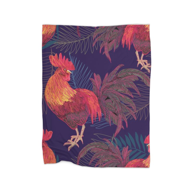 Rooster year Home Blanket by mokalache's Artist Shop