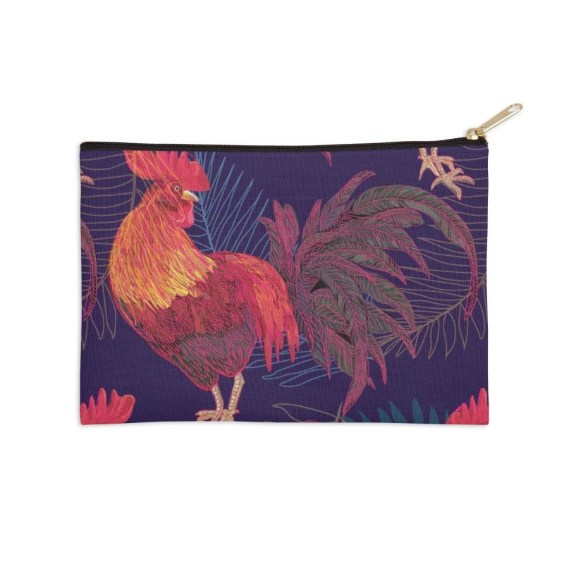 Rooster year Accessories Zip Pouch by mokalache's Artist Shop