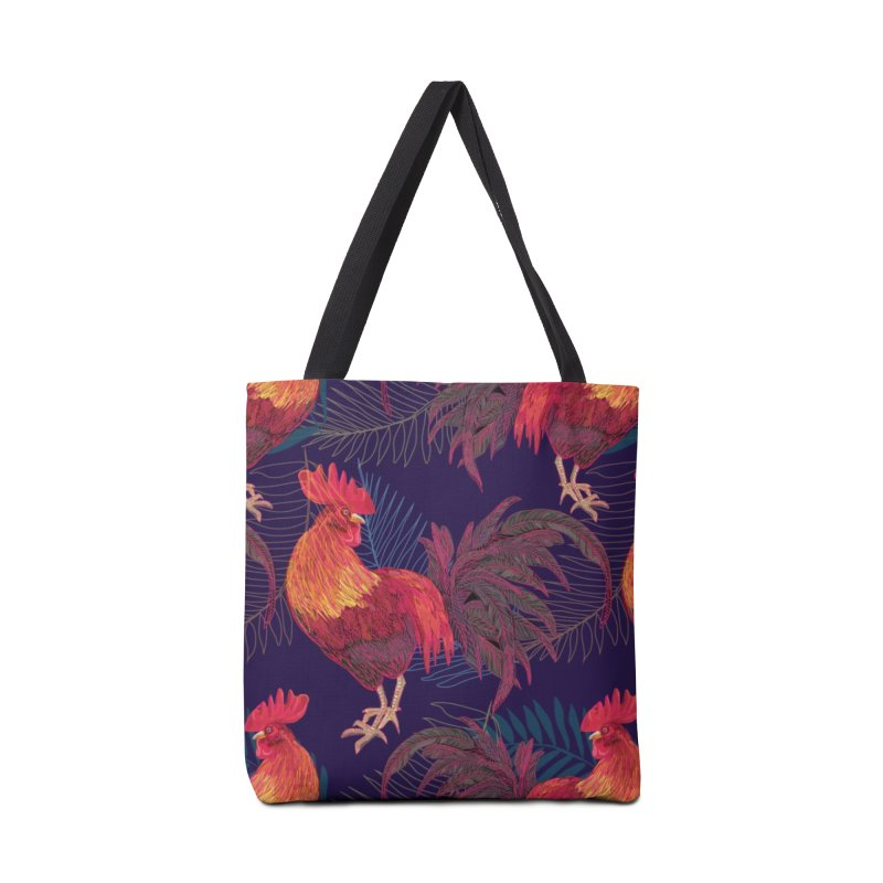 Rooster year Accessories Bag by mokalache's Artist Shop