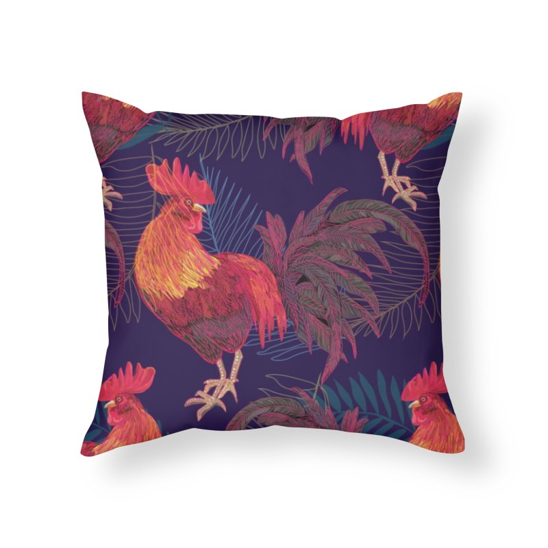 Rooster year in Throw Pillow by mokalache's Artist Shop